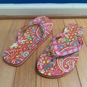Vera Bradley Paisley Flip Flop Sandals Medium 7-8